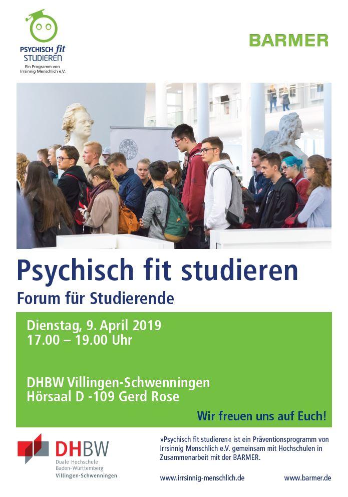 Campus Abend Psychisch Fit Studieren Dhbw Villingen Schwenningen